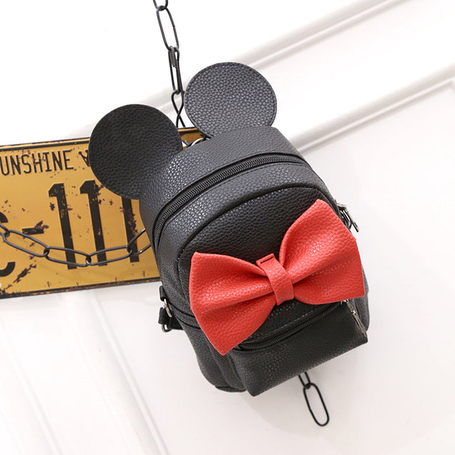 Buddie Mickey Cute Bow Shoulder Bag - 29660