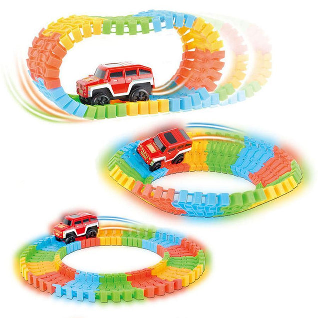 DIY Flexible Track and Luminous Car Game for Kids-2864