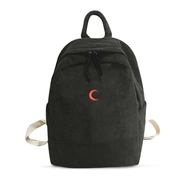 Xinbei The tide corduroy backpack