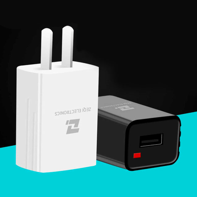 Single USB Charger Adapter for Apple/Android Phone (5V Output)-7672