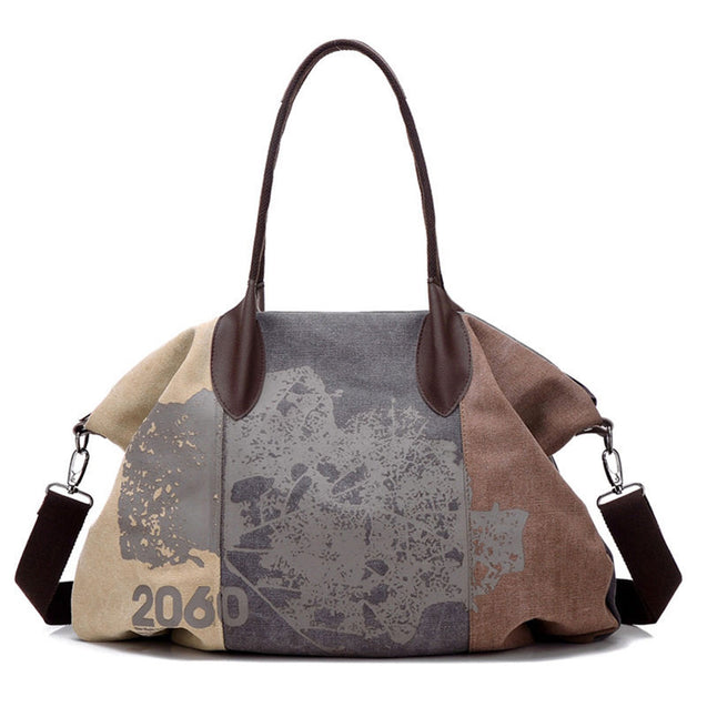 Plum Simple Doodle Large Capacity Bag - 25646