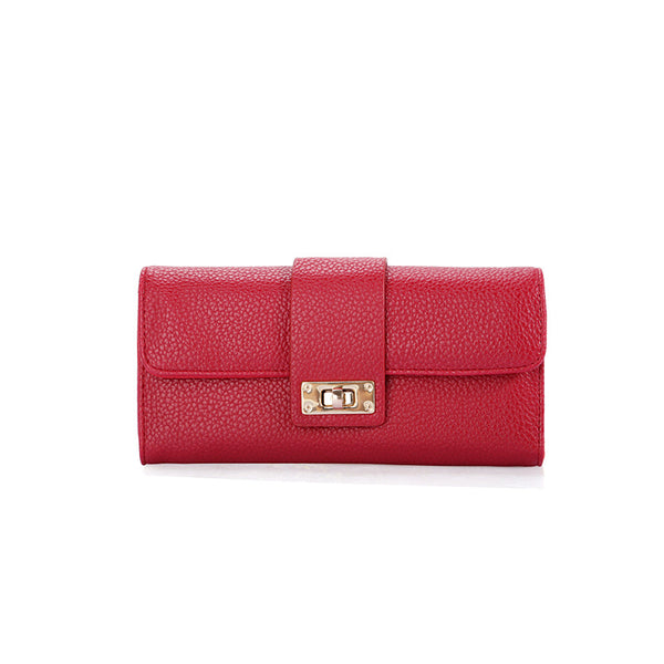 Chic Female Lychee pattern long clutch