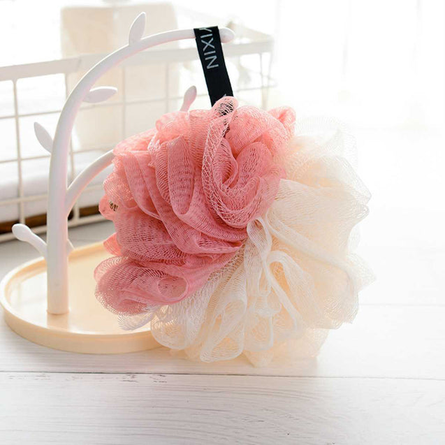 Flower Shape Bath Ball For Adults-11293