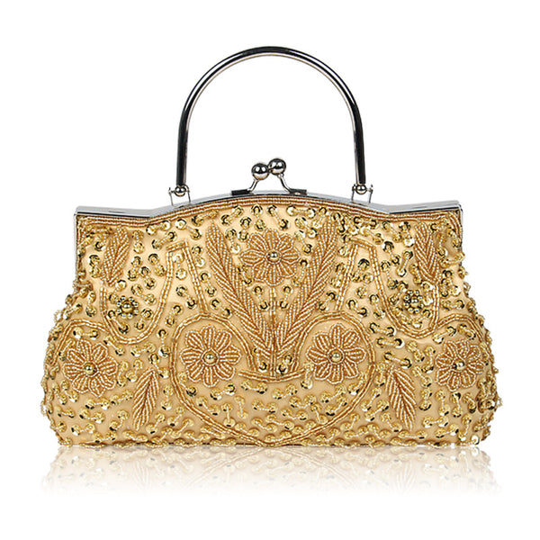 Clasp Retro beaded female bag