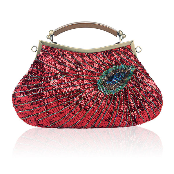 Clasp Peacock boutique beaded bag