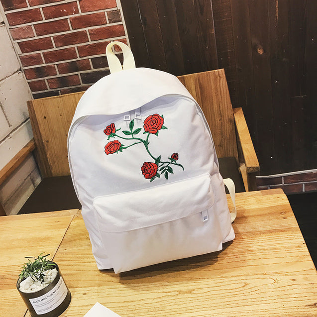 Brume New Rose Embroidery Backpack - 27052
