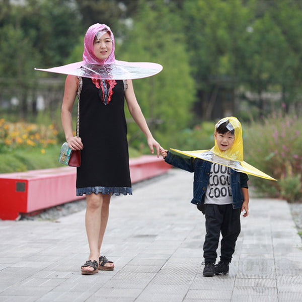 Foldable Hands Free Magic Umbrella Raincoat- 14514