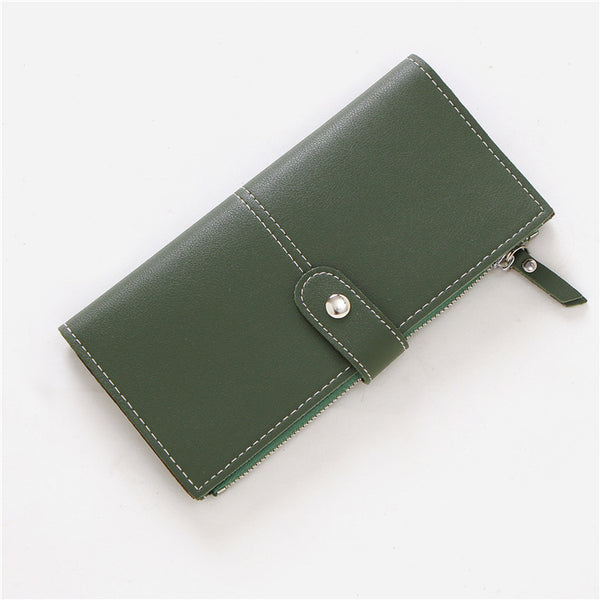 Brume New retro buckle ultra-thin wallet