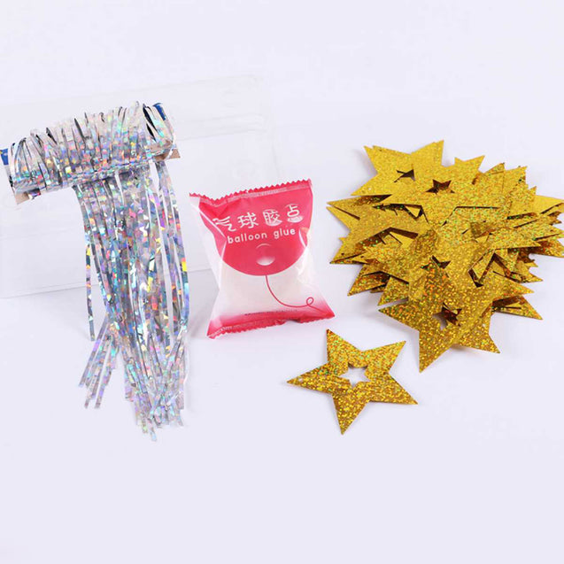 Layout Balloon Sequins With Five-Pointed Star Laser Balloon Pendant Rain Silk Wholesale -12298
