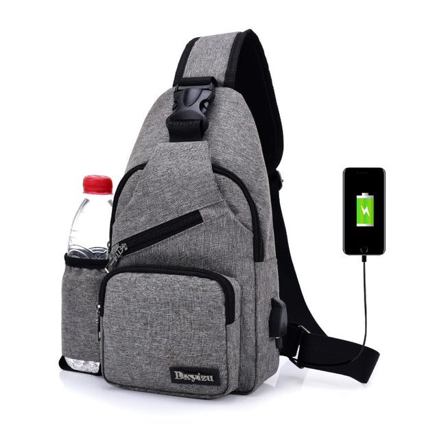 Ales Men'S Usb Charging Chest Bag - 28720