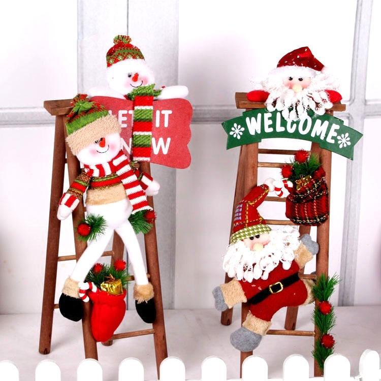christmas snowman ladder decoration piece christmas globepanda