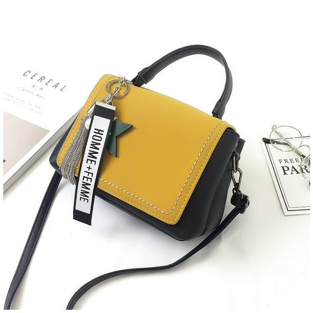 Doux New Contrast Color Matte Small Bag With Keyring - 26332