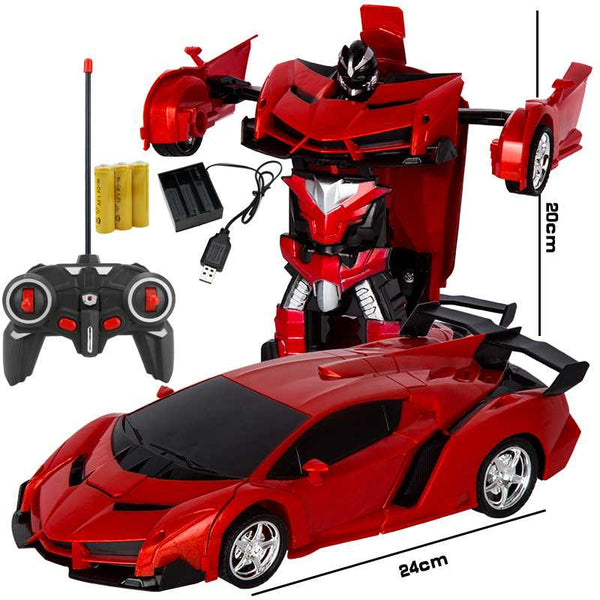 Kids Toy Transformer Rc Robot Car Remote Control Car No Touching Transformed - 14306