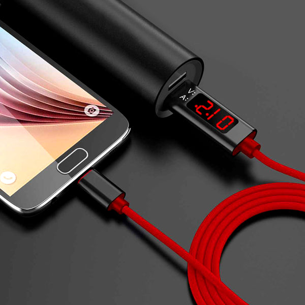 Voltage Indicator Usb Data Cable (Android/Apple/Type C)-12225