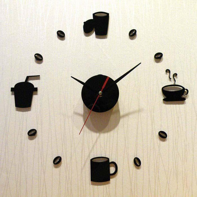 Modern Acrylic Coffee Cup Decorative Wall Clock-1560