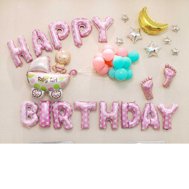 Birthday Balloon Adult Arrangement Package Party Letter Aluminum Film Balloon -12323