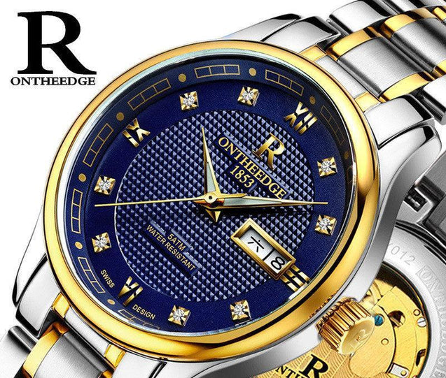 Waterproof Ultra Thin mechanical watch-3527