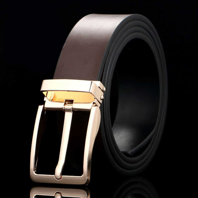 Two-Layer Leather Men'S Belt-12362