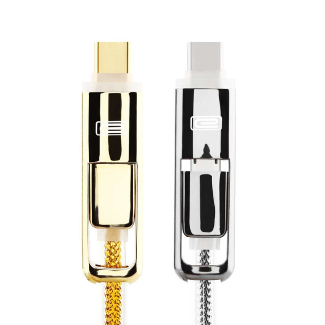 USB Data Cable for Hassle-Free Charging and Transfer (2-in-1 Head, Apple and Android)-6415