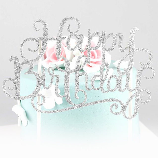 Cake Decoration Small Happy Birthday Card  -13114