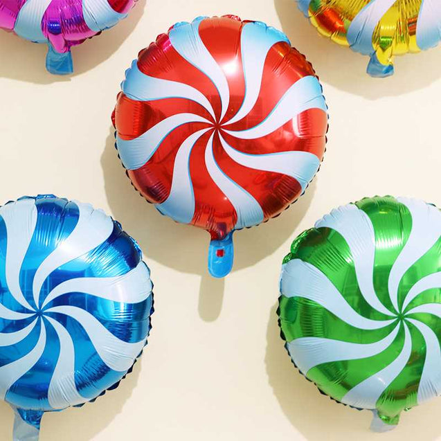 Round Aluminum Lollipop Film Balloon For Party Decoration Wholesale -12311