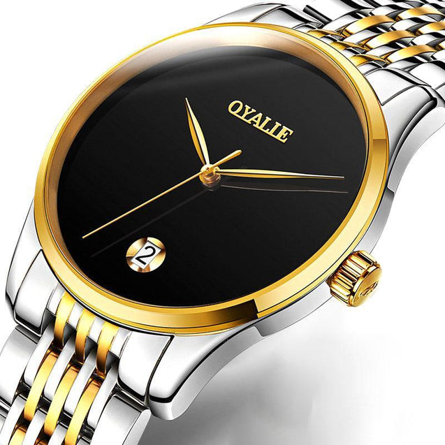 Analog Mechanical Stainless Steel Watch With Jubilee Bracelet Watches - GlobePanda