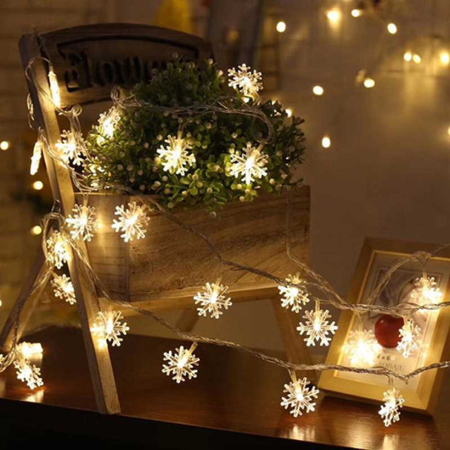 Christmas Decoration Snowflake Led Light String- 12774