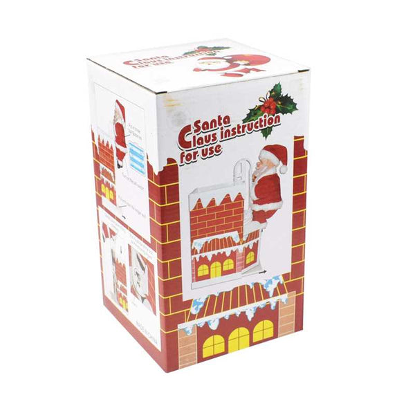 Electric Climbing Chimney Santa Claus With Music-15161