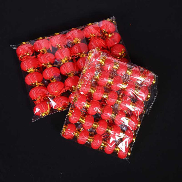 New Outdoor Waterproof Small Red Plastic Lanterns - 13202