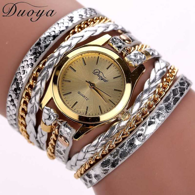 Complete Jewel Embellished Bracelet Style Watch For Women
