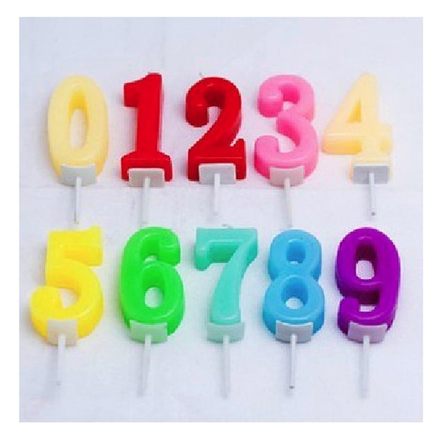 Colorful Number Cake Decoration Birthday Candles - 13296