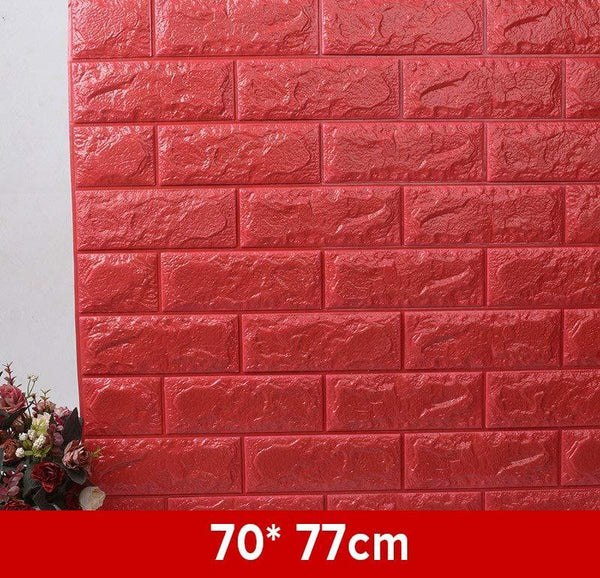 Waterproof 3D Brick Wallpaper (1 Pc) -3159