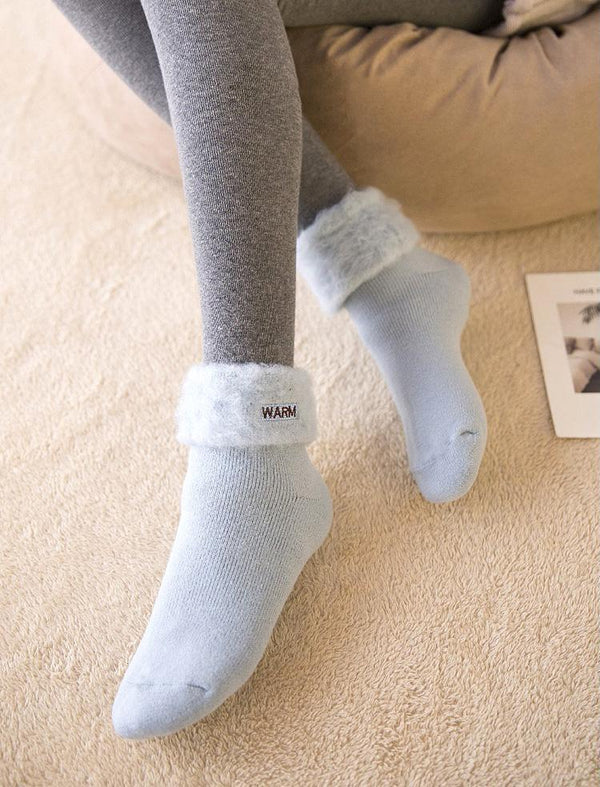 Autumn And Winter Japanese Adult Thick Warm Terry Socks Socks - GlobePanda