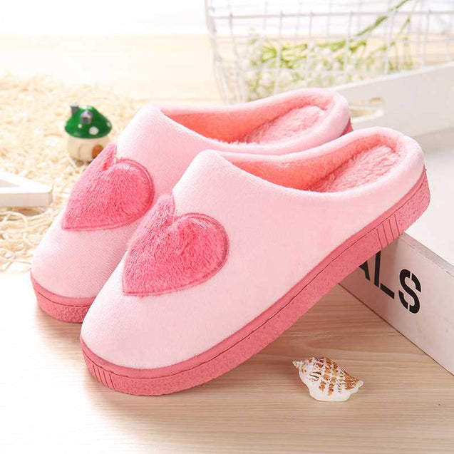 Cute Winter Cotton Slippers With Thick Bottom -14119