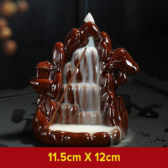 Mystical Monk Waterfall Incense Burner-3172