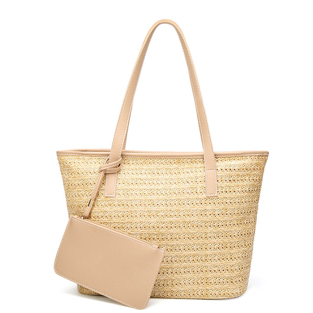 Jour American Style Hand-Woven Straw Bag - 27930