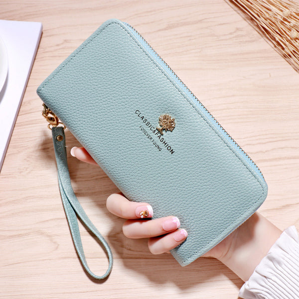 Chic New Women'S Zipper Large Capacity Wallet