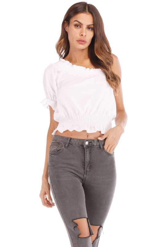 Cotton Spandex Short Sleeves Top