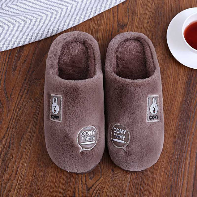 Unisex Warm Thick Sole Slippers For Winter -14139