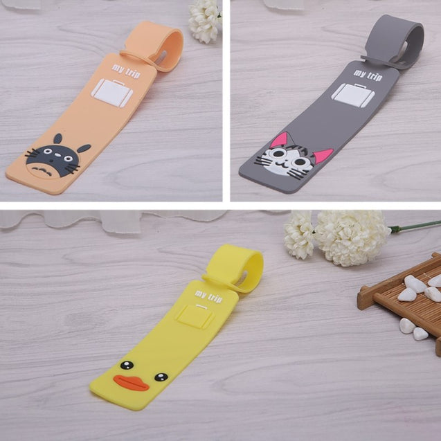 Cartoon Silicone Travel Luggage Tags Baggage Suitcase Bag Labels Name Address   - 23781