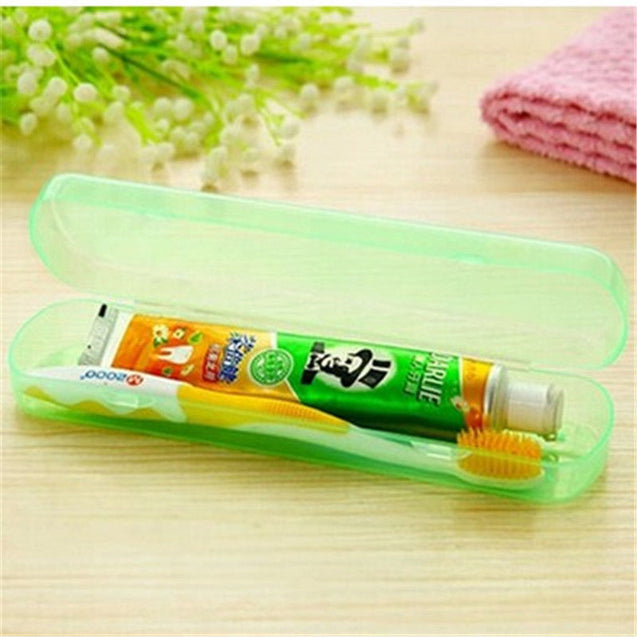 ISKYBOB Good Useful Travel Portable Toothbrush Toothpaste Storage Box Cover Protect Case - 23777