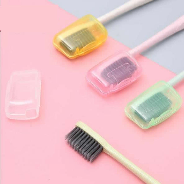5pcs Fashion Toothbrush Cover Case Cap Travel Accessories plastic Suitcase Holder Baggage Boarding Portable Packing organizer - 23772