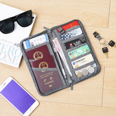 2018 Valise Bolsa De Viagem Passport For Protection Set Bag Certificate Collection Multifunctional Document Clip Travel Abroad  - 23867