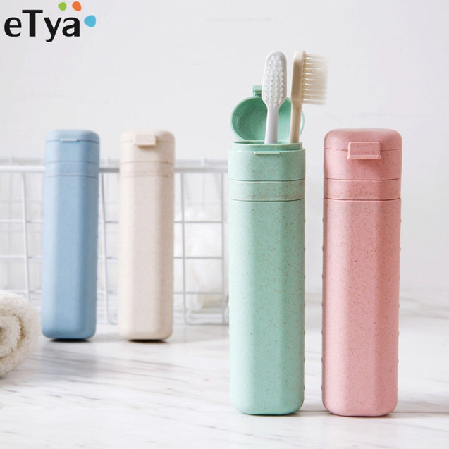 eTya Women Men Adjustable length Toothbrush  Box Case Portable Travel Protect Toothbrush Holder Cover Bag Travel Accessories - 23766