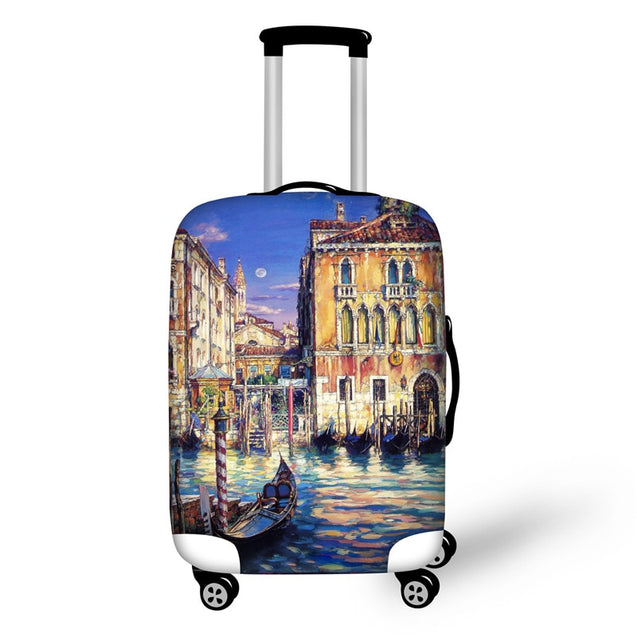 ELVISWORDS Harry Potter Book Print Luggage Cover Dustproof Suitcase Bags New Luggage ID Name Tags Customized Travel Accessories - 23743