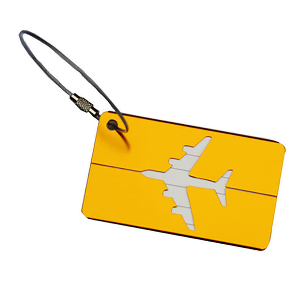 Hot Sale luggage tag Airplane Square Shape ID Suitcase Identity Address Name Labels travel accessories Luggage Board - 23776