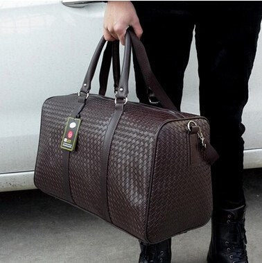 Waterproof Travel Bag Large Capacity Men Hand Luggage Travel Duffle Bags Leather Handbag Multifunction Shoulder Bag Bolsos Weeke - 23904