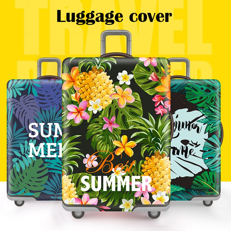 a64450054c7ab Travel accessories Luggage cover Suitcase protection baggage dust covering  Trunk set Thicken Elasticity Bright Flower case