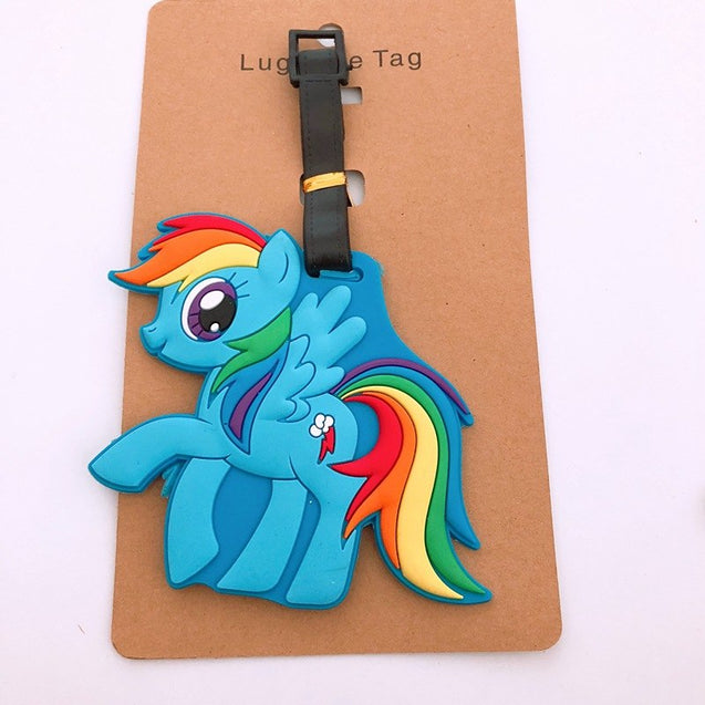 cute horse Luggage Tag Travel Accessories Portable Fashion Cartoon TSUM ID Address Baggage Labels Suitcase Boarding Tags - 23836