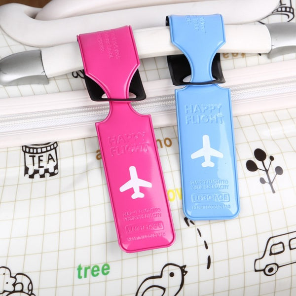 Travel  PU Leather Luggage Tag Cover Creative Accessories Suitcase ID Address Holder Letter Baggage Boarding Tags Portable Label - 23758